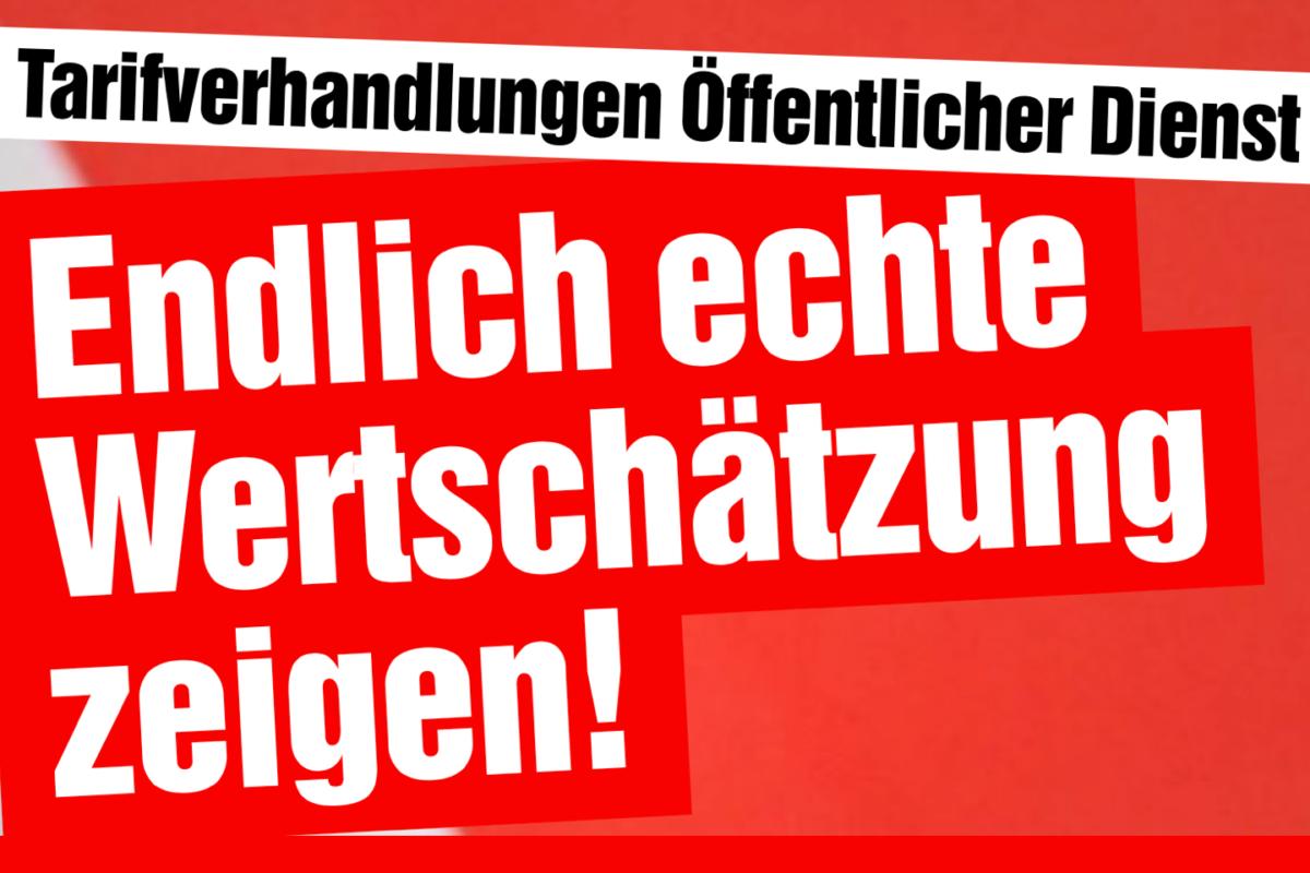 Tarifverhandlungen im Öffentlichen Dienst.