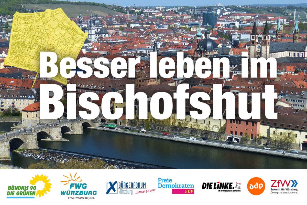 Besser leben im Bischofshut – Verkehrskonsens für Würzburgs Innenstadt